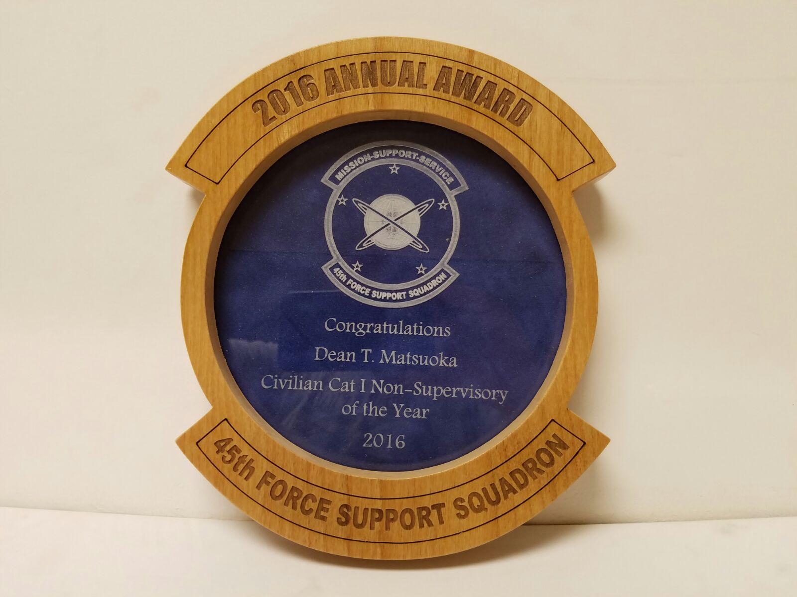 Custom Wood Award