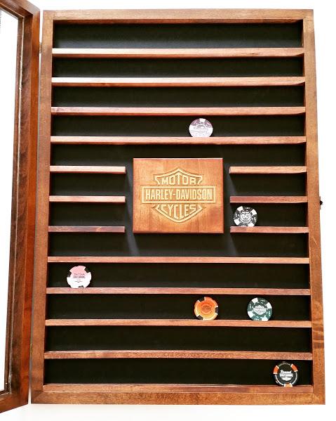 wooden coin holder